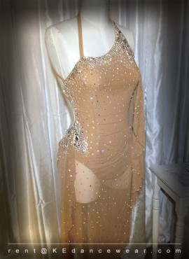 BALLROOM DRESS RENTAL – Nude (ID#303)