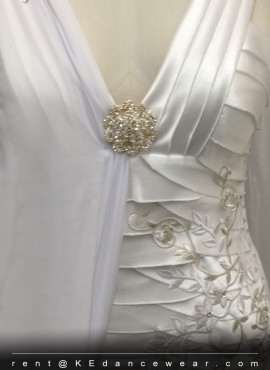 BALLROOM DRESS RENTAL – White (ID#245)