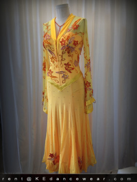 BALLROOM DRESS for SALE – Chrisanne – Gold (ID#281)