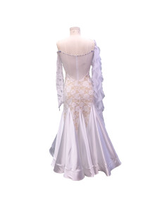 BALLROOM DRESS RENTAL – White (ID#255)