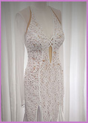 Ballroom Dance Dress for Rent - White
