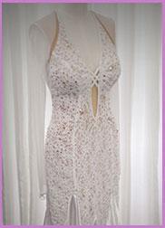 Ballroom Dance Dress for Rent - White